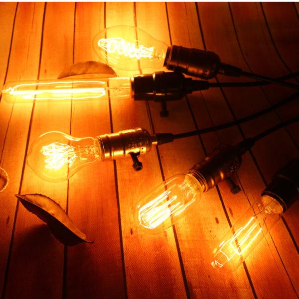 Висящие лампочки Эдисона