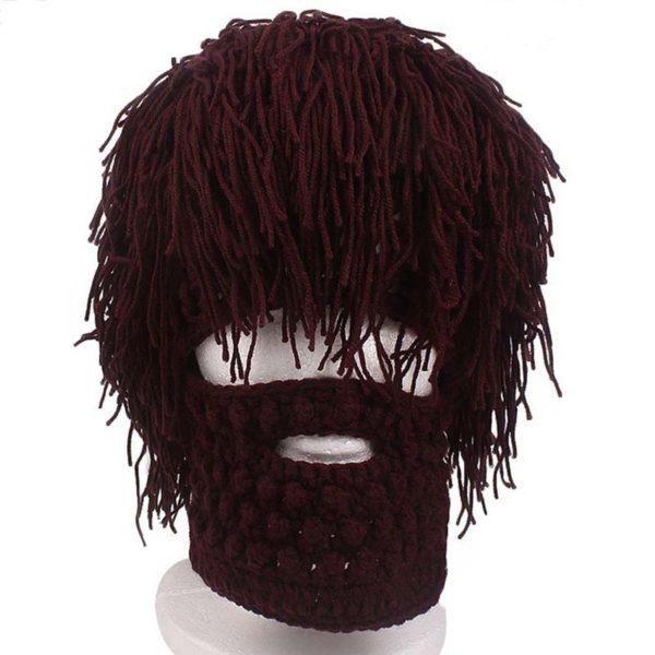 Шапка с бородой и волосами