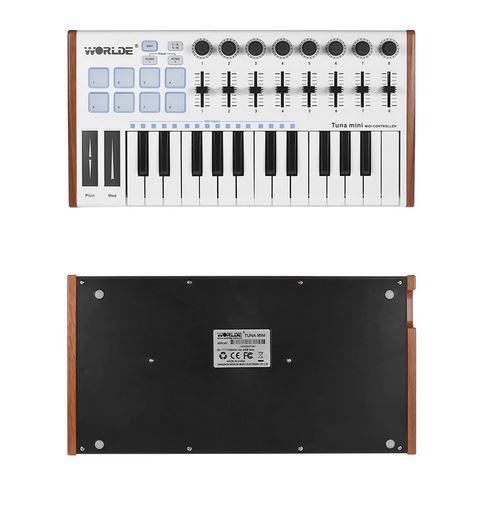 TUNA MINI Ultra-Portable 25 Keys USB MIDI Keyboard Controller