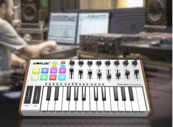 Muslady 25-Key USB MIDI Keyboard
