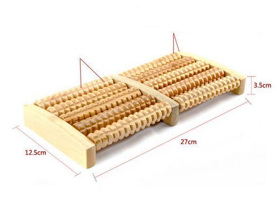 Ручной деревянный роликовый массажер для стоп DEDOMON