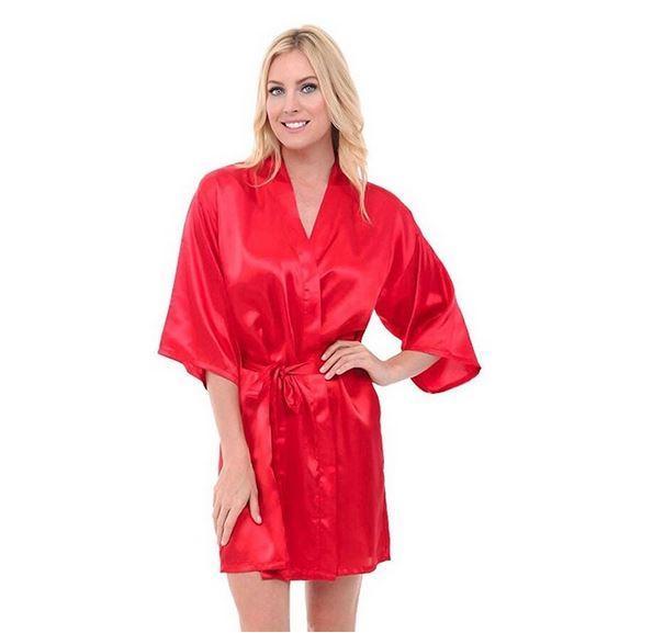 Атласный женский халат CINOLE
