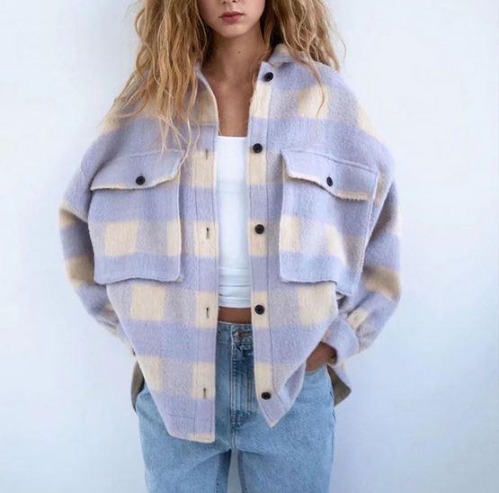 Клетчатая куртка-рубашка