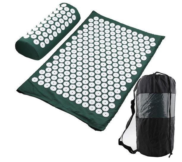 Подушка-валик для акупрессуры в комплекте с ковриком