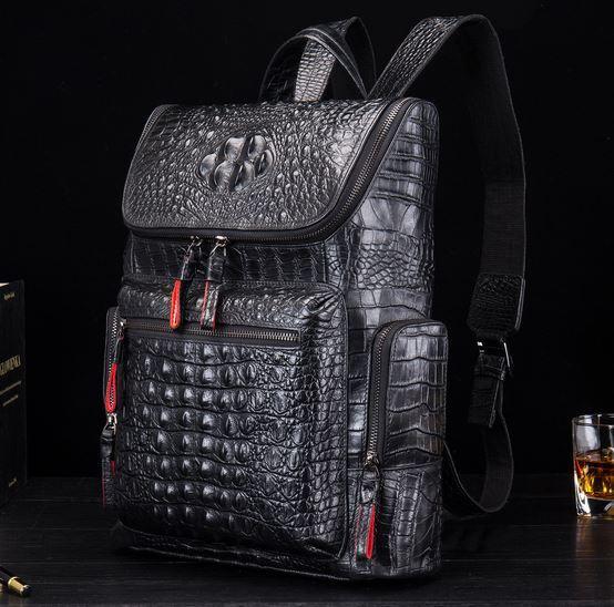 Рюкзак с имитацией натуральной кожи крокодила CASTOPBER