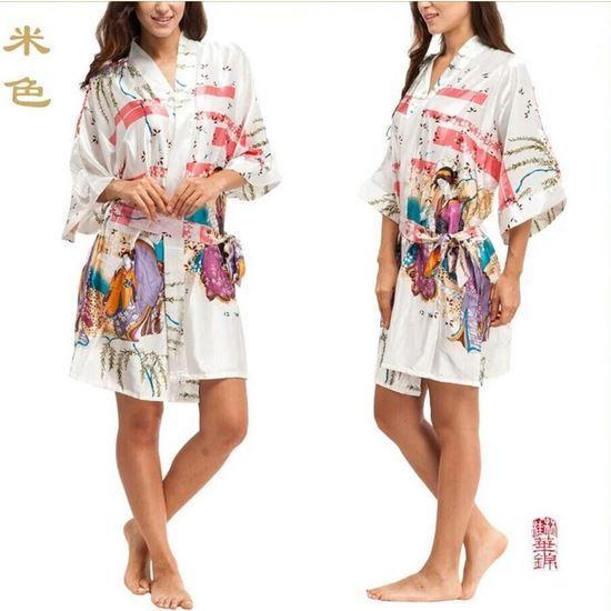 Короткие халаты из шелка VLENATLNO