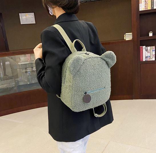Плюшевый рюкзак с ушками бренда MOJOYCE