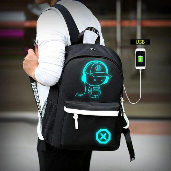 рюкзак со светящимся рисунком