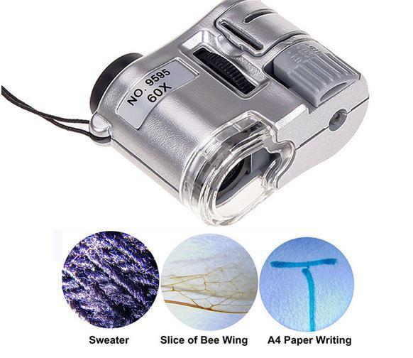 Карманная лупа-микроскоп для тестирования купюр